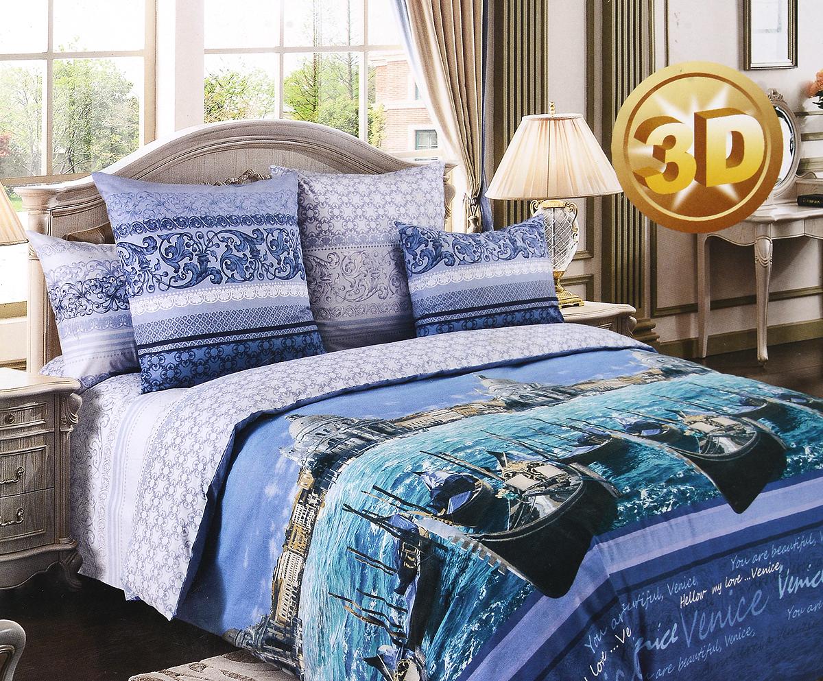 Комплект белья Primavera Венеция, евро, наволочки 70x70FD-59Комплект постельного белья Primavera Венеция является экологически безопасным для всей семьи, так как выполнен из высококачественного перкаля. Комплект состоит из пододеяльника, простыни и двух наволочек. Постельное белье оформлено ярким рисунком и имеет изысканный внешний вид. Перкаль представляет собой очень прочную ткань высочайшего качества, которую производят из чесаного хлопка. Перкаль обладает матовой, слегка бархатистой поверхностью. Несмотря на высокую прочность и плотность, перкаль - мягкий и нежный материал. Приобретая комплект постельного белья Primavera Венеция, вы можете быть уверенны в том, что покупка доставит вам и вашим близким удовольствие и подарит максимальный комфорт.