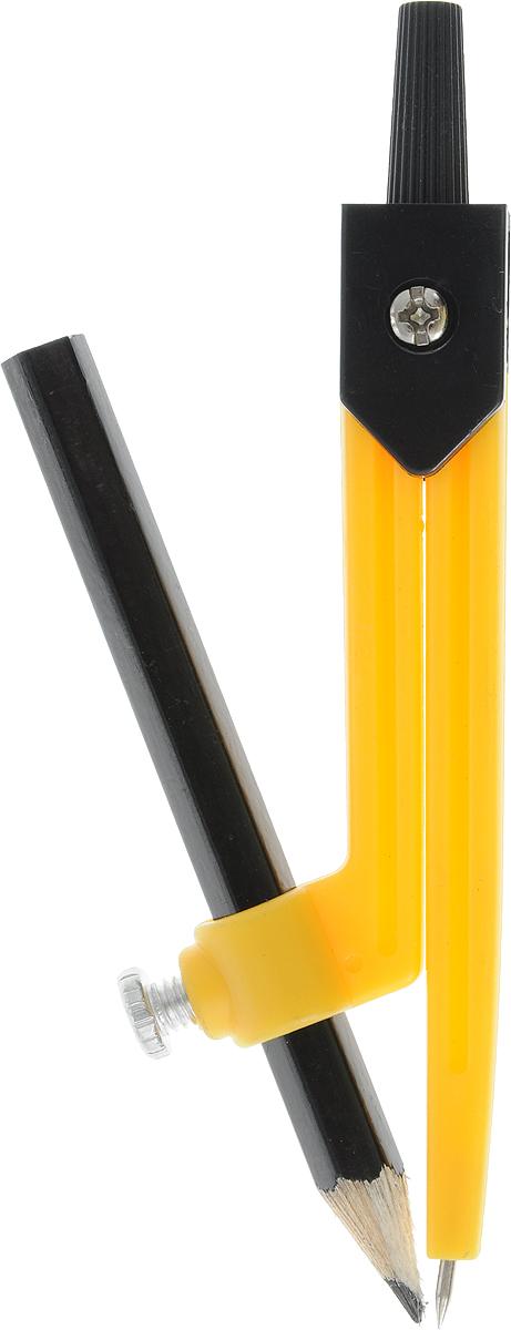 ArtSpace Циркуль с карандашом 11 см цвет желтый черныйCMP_5390_желтый, черныйЦиркуль ArtSpace предназначен для учащихся младших и средних классов.Пластиковый желтый циркуль длиной 110 мм оснащен фиксированной иглой, пластиковым держателем и негнущимся коленом. В комплекте с циркулем поставляется карандаш.