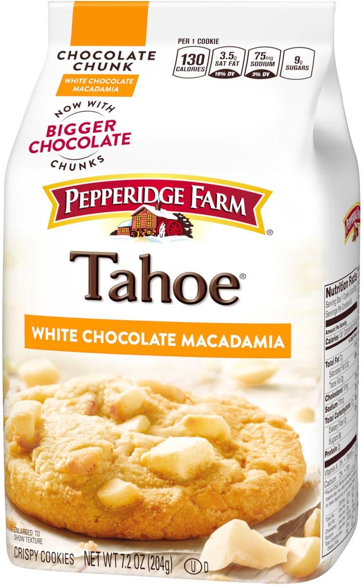 Pepperidge Farm печенье с кусочками ореха макадамии - тахо, 204 г135Печенье Pepperidge Farm с кусочками ореха макадамии. Оригинальный вкус который не оставит никого равнодушным.