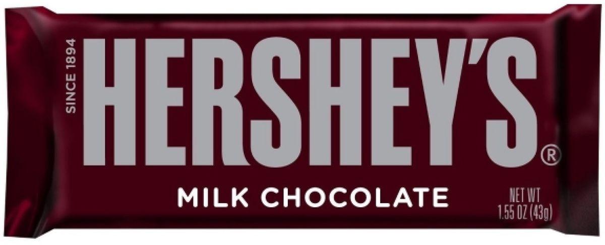 Hersheys шоколадная плитка, 43 г247Молочный шоколад. Классический вкус, от известного производителя американского шоколада.