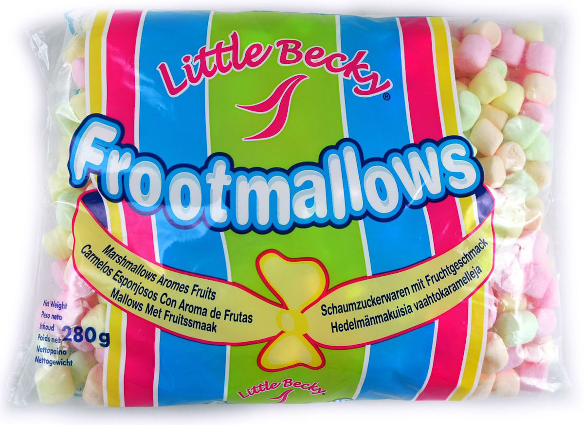 Lettle Becky зефир фруктовый мини, 280 г34Кондитерское изделие со сладким или сладко-кислым вкусом, нежным ароматом и пористой структурой. Прекрасное лакомство для детей.