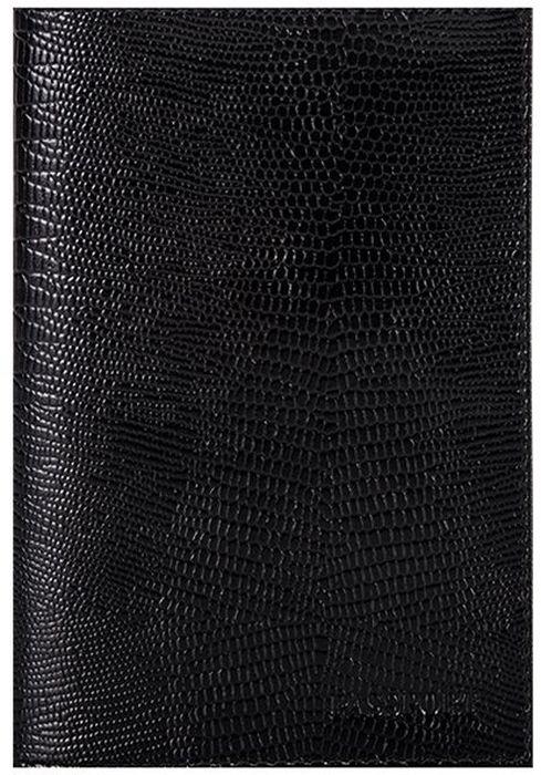 Обложка для паспорта женская Fabula Reptile, цвет: черный. O.1.KKO.1.KK.черныйОбложка для паспорта из коллекции Reptile выполнена из натуральной кожи. Внутри 2 кармана из прозрачного пластика.