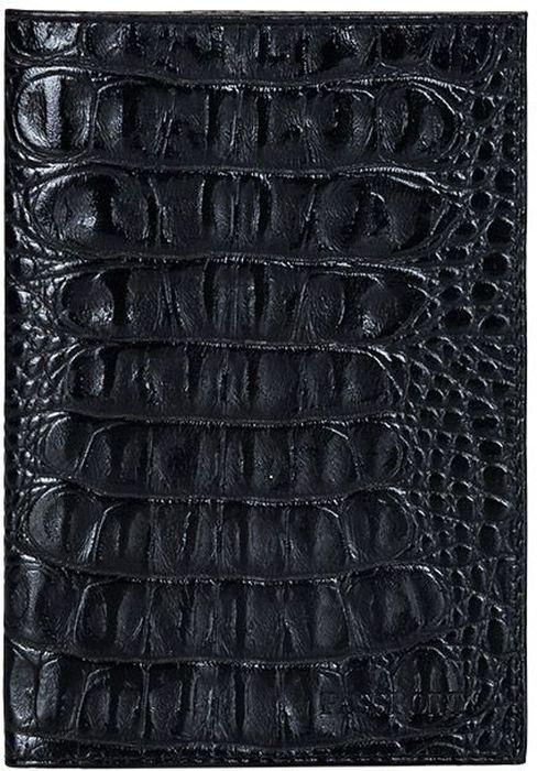 Обложка для паспорта женская Fabula Caiman, цвет: черный. O.1.KM