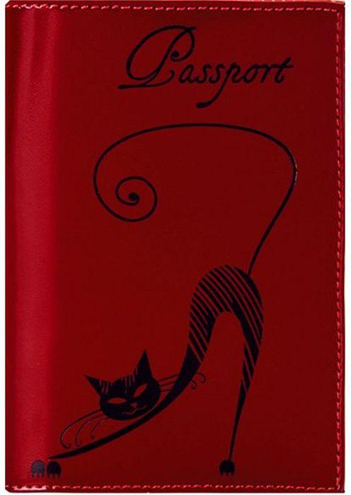 Обложка для паспорта женская Fabula Cats, цвет: красный. O.31.SHO.31.SH.красныйОбложка для паспорта из коллекции Cats выполнена из натуральной кожи. Внутри 2 кармана из прозрачного пластика. Отличительная черта: изящное тиснение Кошка.