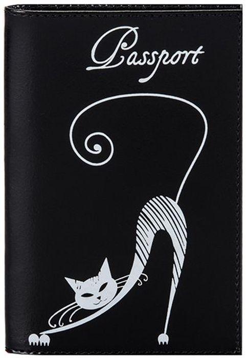 Обложка для паспорта женская Fabula Cats, цвет: черный. O.31.SHO.31.SH.черныйОбложка для паспорта из коллекции Cats выполнена из натуральной кожи. Внутри 2 кармана из прозрачного пластика. Отличительная черта: изящное тиснение Кошка.