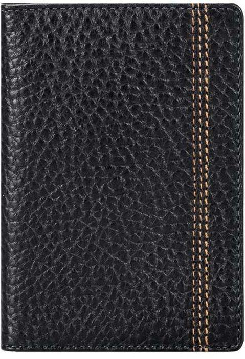 Обложка для паспорта мужская Fabula Brooklyn, цвет: черный. O.88.BRO.88.BR.черныйОбложка для паспорта из коллекции Brooklyn выполнена из натуральной кожи. На внутреннем развороте 2 кармана из прозрачного пластика, шелковистая подкладка. Отличительная черта: декоративная строчка.