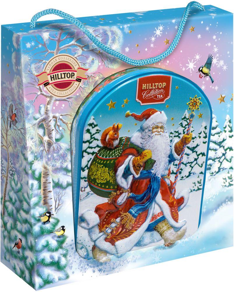 Hilltop Веселый Дед Мороз чай черный листовой Цейлонское утро, 80 г4607099308336_НГ