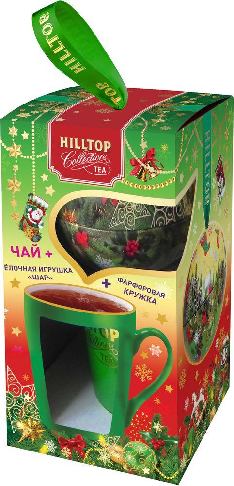 Hilltop Набор Яркие подарки чай черный листовой с кружкой, 80 г4607099308473_НГ
