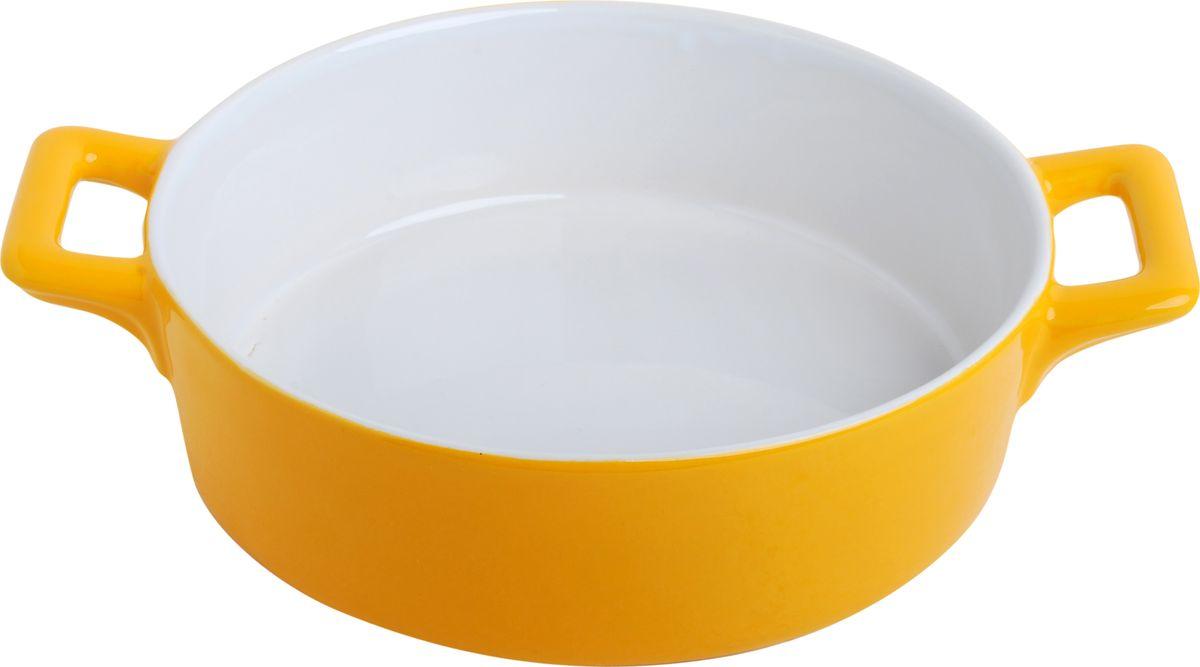 Противень керамический Frank Moller, круглый, цвет: желтый, 24,3 х 18,8 х 6,3 смFM-636