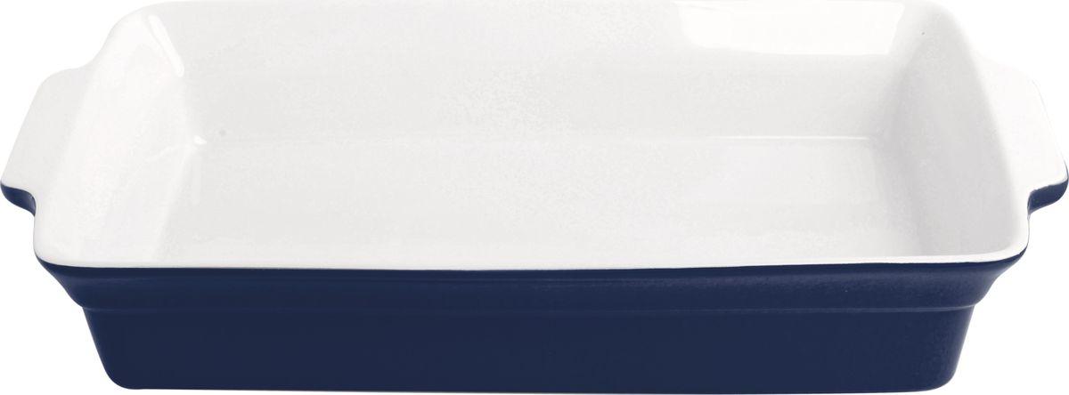 Противень керамический Frank Moller, прямоугольный, цвет: синий, 37,5 х 22 х 6,5 смFM-656