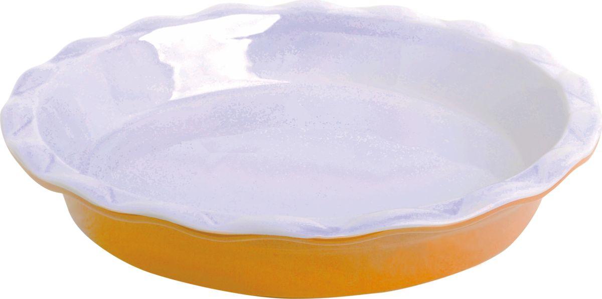 Противень керамический Frank Moller, круглый, цвет: желтый, 28,5 х 28,5 х 5,3 смFM-660