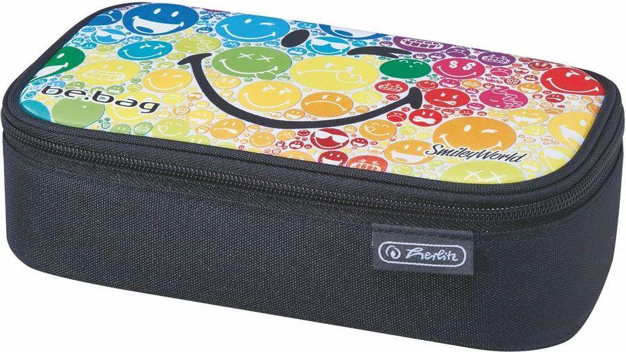 Herlitz Пенал Be Bag Beat Box Smileyworld Rainbow11437894Пенал Herlitz Be.Bag Beat Box Smileyworld Rainbow станет не только практичным, но и стильным аксессуаром для любого школьника. Пенал прямоугольной формы выполнен из прочного материала и состоит из одного вместительного отделения, закрывающегося на застежку-молнию. Внутри располагается откидная планка с органайзером для принадлежностей и прорезной карман на молнии. Пенал оформлен принтом с изображением разноцветных смайликов.Такой пенал станет незаменимым помощником для школьника, с ним ручки и карандаши всегда будут под рукой и больше не потеряются.