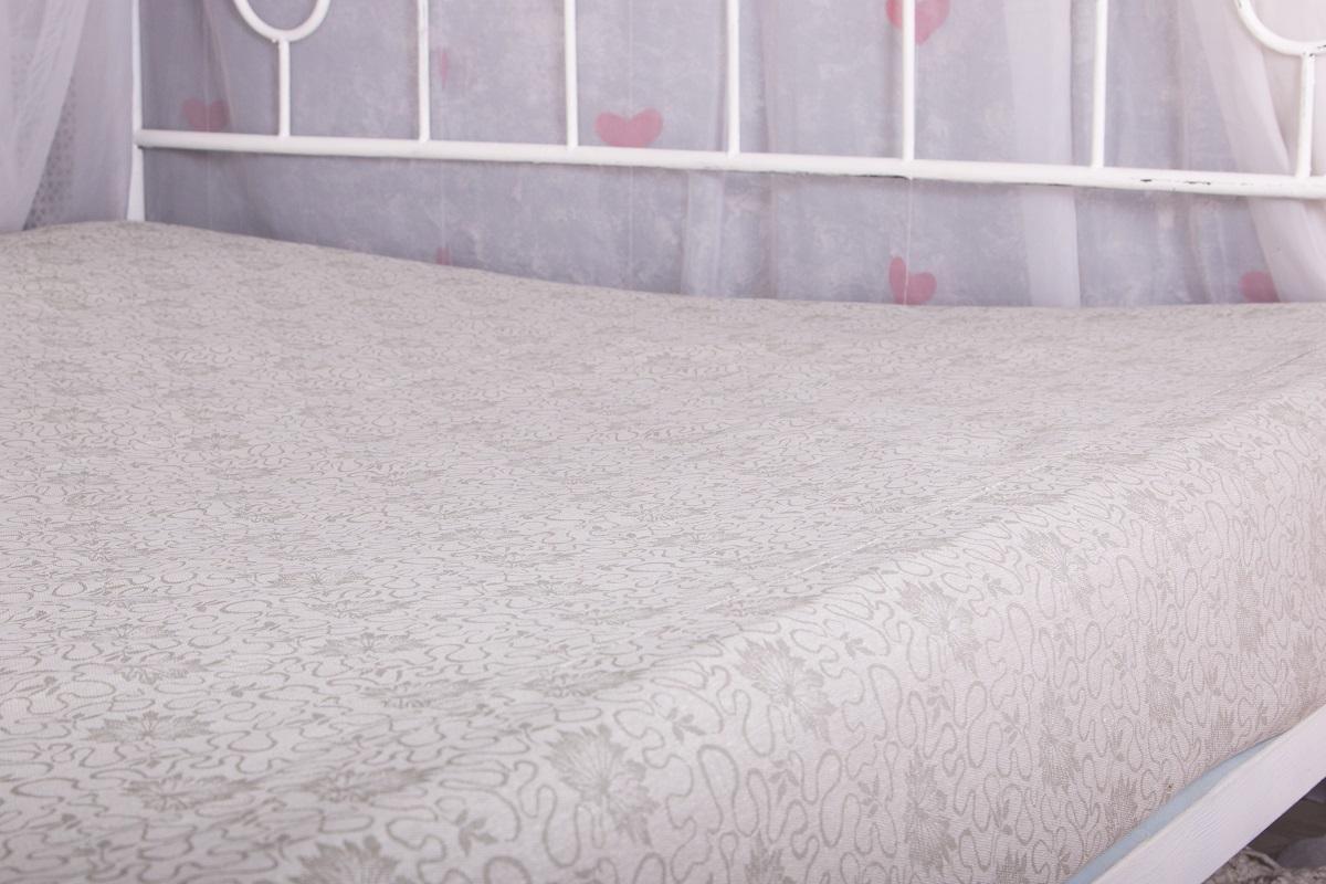 Простыня Гаврилов-Ямский Лен, на резинке, жаккардовая, цвет: серый, 180 х 200 см. 6072-231со6072-23Жаккардовая простыня на резинке из плотного натурального хлопка. Может использоваться как наматрасник.