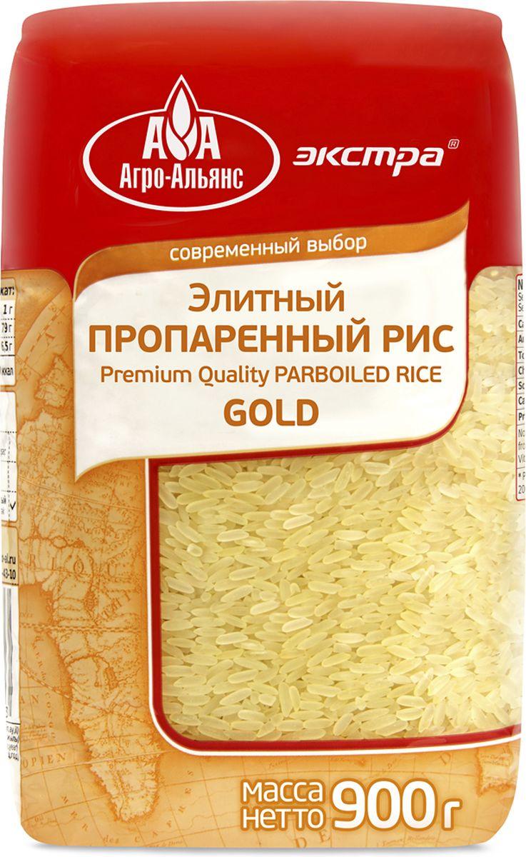 Агро-Альянс Экстра Gold рис элитный пропаренный, 900 г4607072710033