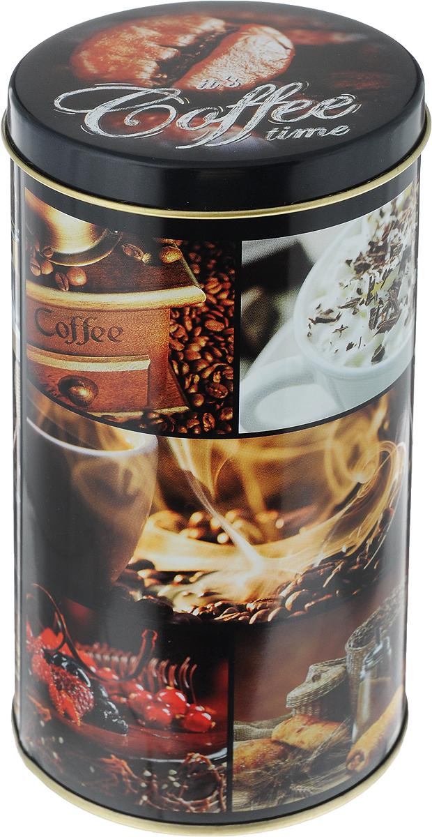 Банка для сыпучих продуктов Кофе, 900 мл1669556Жестяная банка для сыпучих продуктов Кофе отлично подойдет для хранения круп, сахара, чая, кофе и многого другого. Крышка плотно закрывается и защищает содержимое от влаги и пыли. Изделие дополнено оригинальным принтом. Диаметр банки: 8,5 см. Высота банки (с учетом крышки): 16 см.