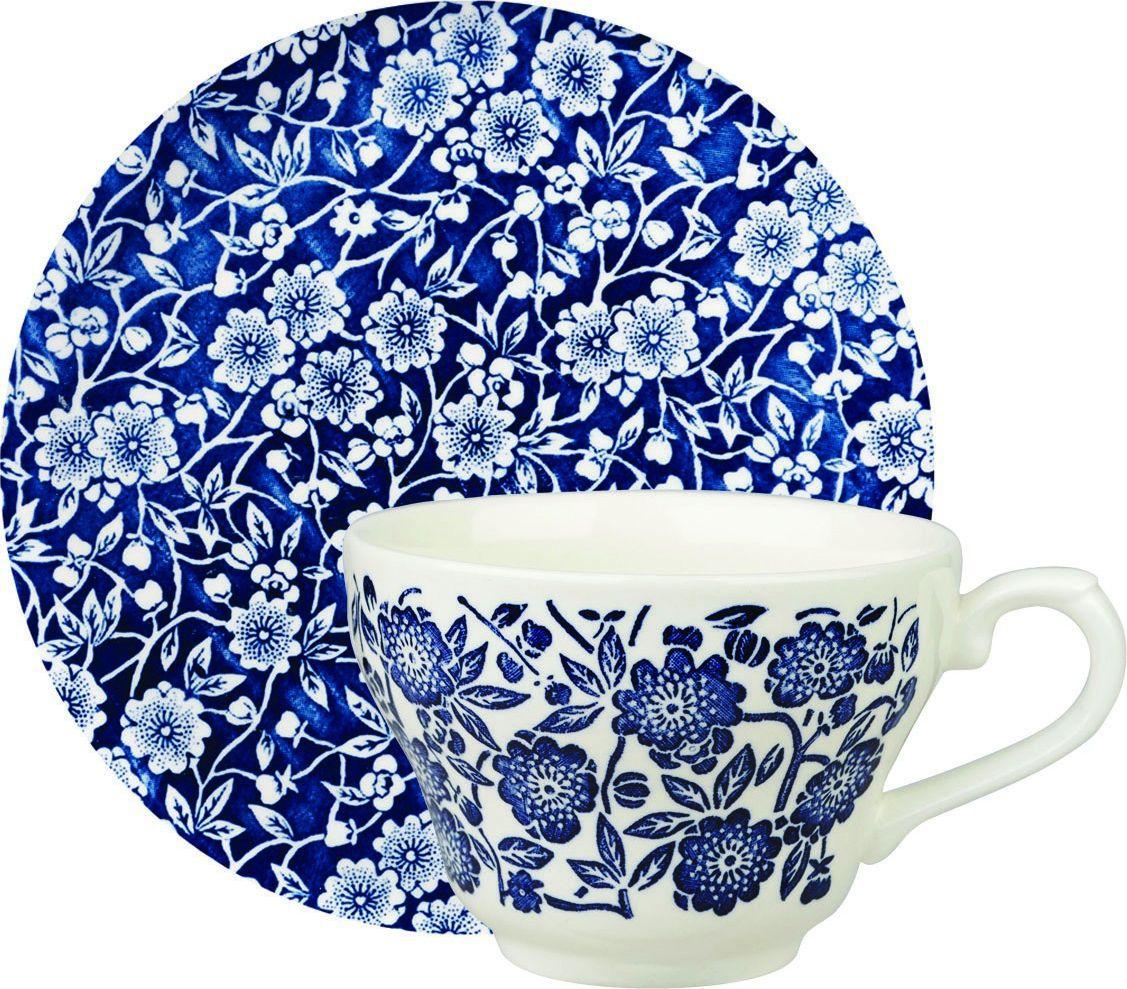 Чайная пара Churchill, 2 предмета. CABL0020177.858@15796Викторианский стильОтличается традиционным орнаментом, сочетает маленький рисунок цветов с богатым синим цветом.Можно мыть в посудомоечной машинеМожно использовать в микроволновой печиВнимание: посуда с позолоченным орнаментом запрещена для использования в микроволновой печи, т.к. металлическая позолота может привести к искрообразованию в камере микроволновой печи.