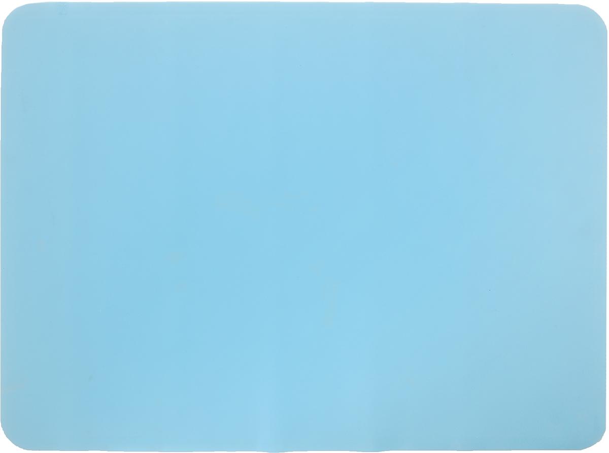 Коврик для теста Marmiton, цвет: голубой, 38 х 28 см68/5/3Коврик Marmiton выполнен из пищевого силикона. Материал устойчив к фруктовым кислотам, к воздействию низких и высоких температур, не взаимодействует с продуктами и не впитывает запахи как при нагревании, так и при заморозке. Изделие обладает естественными антипригарными свойствами, идеально подходит для раскатки теста. Коврик можно использовать в духовках и микроволновых печах при температуре от -40°С до +230°С.