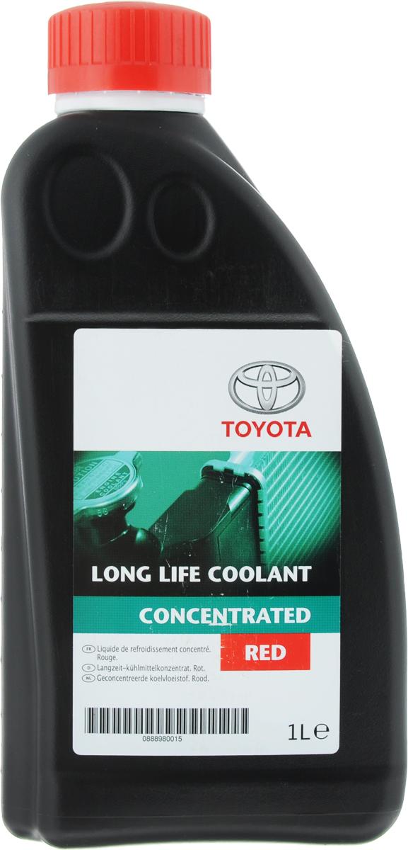 Антифриз Toyota Long Life Coolant, цвет: красный, концентрат, 1 л08889-80015Антифриз Toyota Long Life Coolant применяется в современных автомобилях Toyota в случае, если это предписано производителем. Обеспечивает надежную защиту мотора от перегрева и обладает присадками, предотвращающими коррозию в системе охлаждения.Внимание! Не смешивать с антифризами других производителей и другого цвета. Перед применением необходимо развести жидкость дистиллированной водой в пропорции 1:1, полученный антифриз замерзает при температуре - 37 градусов.Товар сертифицирован.