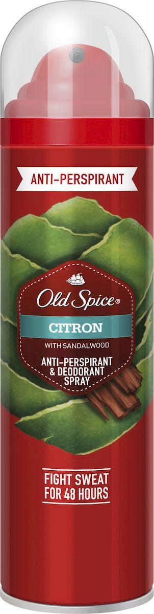 OLD SPICE Аэрозольный дезодорант-антиперспирант CITRON 125 мл аэрозольный дезодорант 125 мл old spice аэрозольный дезодорант 125 мл