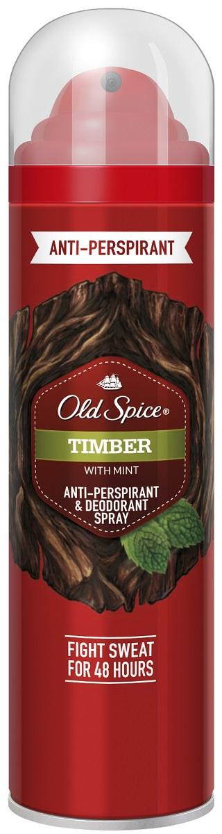 OLD SPICE Аэрозольный дезодорант-антиперспирант TIMBER 125 мл аэрозольный дезодорант 125 мл old spice аэрозольный дезодорант 125 мл