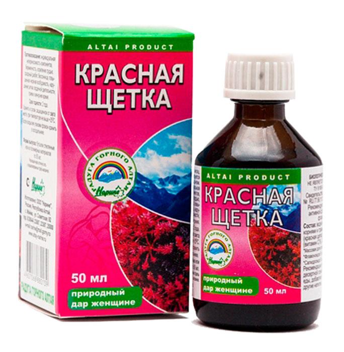 Красная щетка флакон 50 мл Радуга Горного Алтая2218Используется женщинами для полного излечения мастопатии, миомы матки, эрозий, кист, эндометриозов, болезненных и нерегулярных месячных циклов, опухолей различной этиологии. Фармакологическое действие:Оказывает благотворное действие при женском бесплодии, атеросклерозе, стенокардии, анемии, лейкозах, болезнях сердечно – сосудистой системы. Красная щетка может оказывать кровоостанавливающее и мягкое тонизирующее действие. Благотворно влияет на состояние сосудов головного мозга. Красная щетка способствует у Сфера применения: Акушерство и гинекологияПротивовоспалительноеУважаемые клиенты! Обращаем ваше внимание на возможные изменения в дизайне упаковки. Качественные характеристики товара остаются неизменными. Поставка осуществляется в зависимости от наличия на складе.