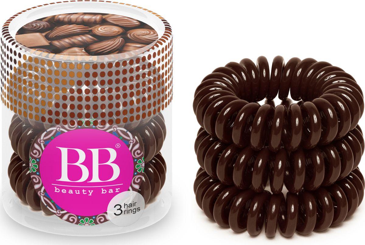 Резинка для волос Beauty Bar, цвет: коричневый резинка спиралька для волос