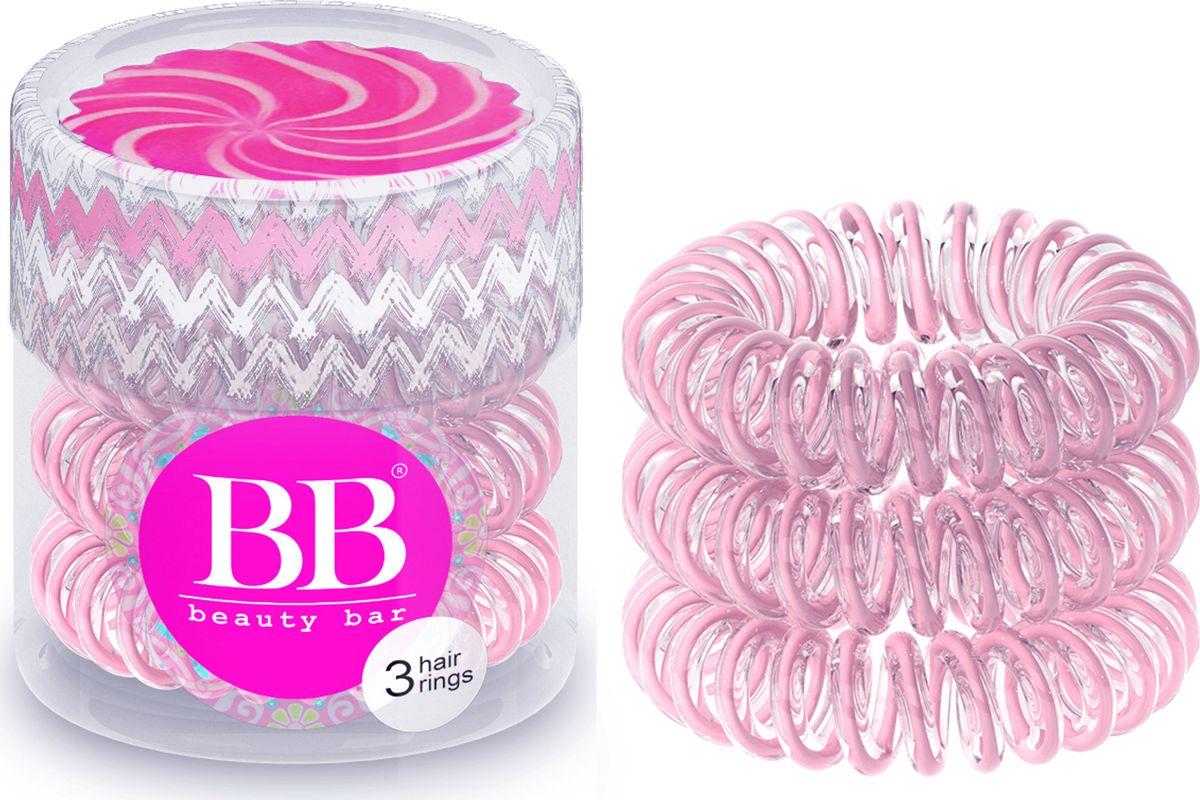 Резинка для волос Beauty Bar, цвет: розовая лента резинка спиралька для волос