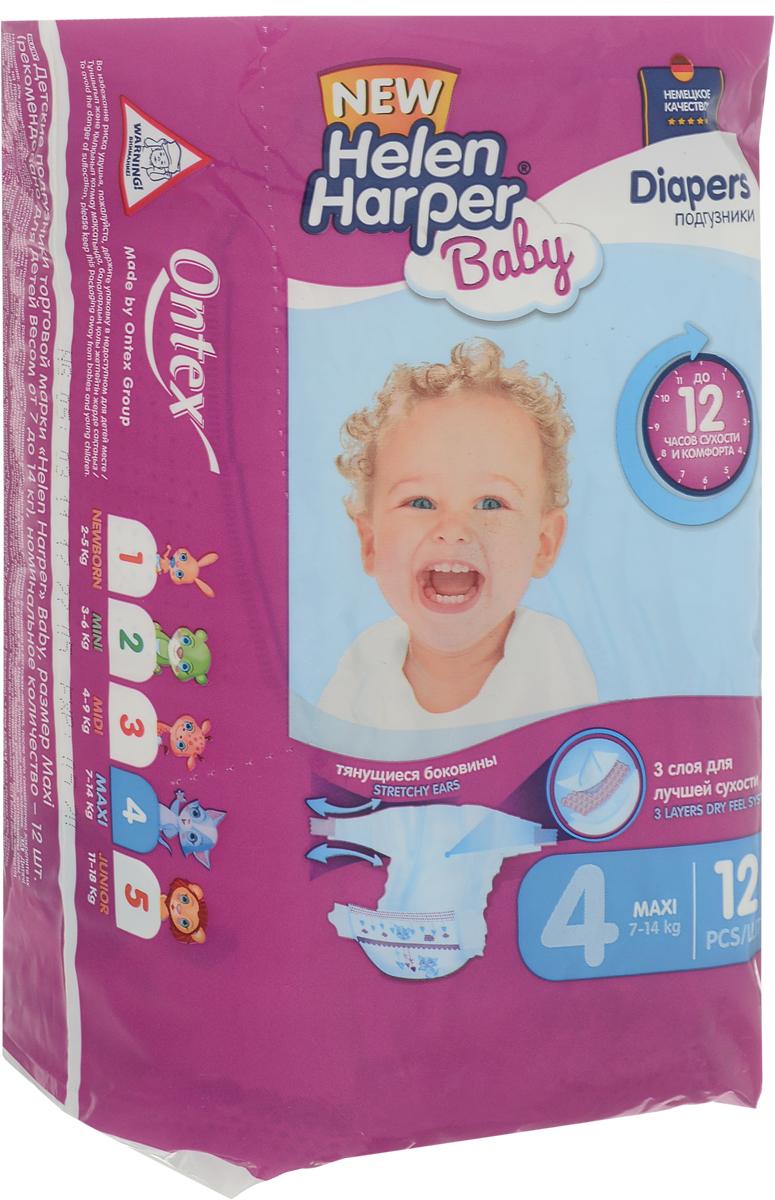 Helen Harper Подгузники Baby 7-14 кг (размер 4) 12 шт