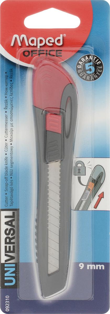 Maped Нож канцелярский цвет малиновый 9 мм92310_малиновыйКанцелярский нож Maped предназначен для работы с бумагой, плотным картоном, пленкой и так далее.Корпус ножа выполнен из пластика. Выдвижное многосекционное лезвие изготовлено из высококачественного металла. Нож оснащен плоским ручным фиксатором и системой блокировки лезвия.