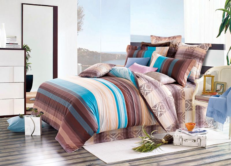 Комплект белья Primavera Classic. Гавань, евро, наволочки 70x70, цвет: коричневый89913