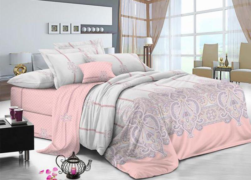 Комплект белья Primavera Classic. Мишель, евро, наволочки 70x70, цвет: розовый95726