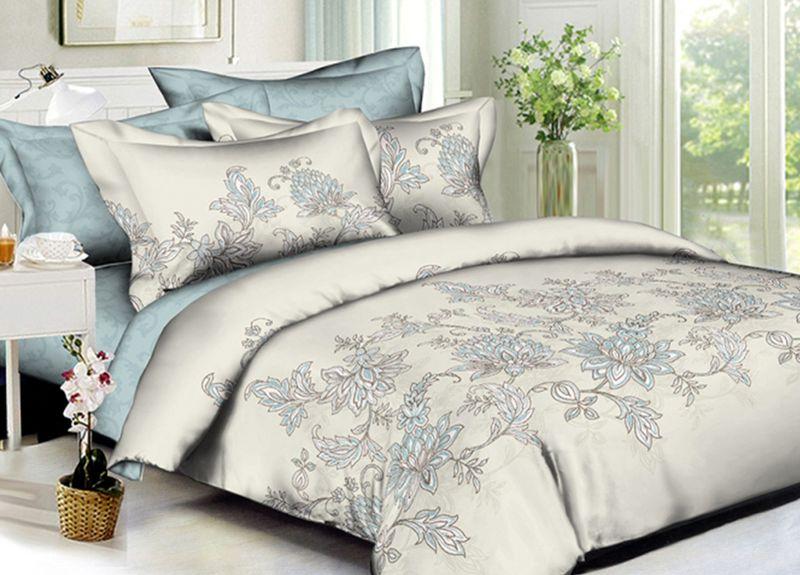 Комплект белья Primavera Classic. Пейсли, семейный, наволочки 70x70, цвет: серый95735