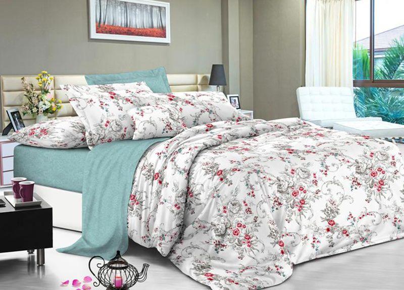 Комплект белья Primavera Classic. Брасика, семейный, наволочки 70x70, цвет: серый95745