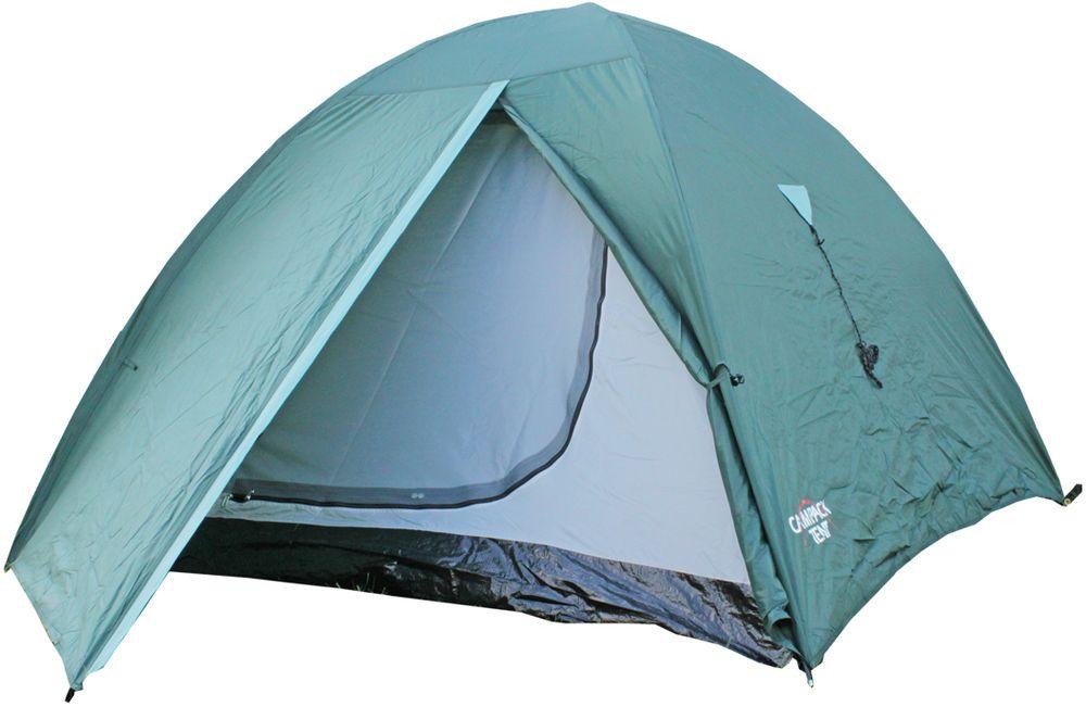 Палатка туристическая Campack Tent Trek Traveler 2, 2-х местная, цвет: зеленый, серый, черный62406Классическая туристическая палатка Trek Traveler с небольшим тамбуром для самых необходимых вещей. Палатка оснащена москитными сетками и вентиляционными окнами. Усиленный пол из армированного полиэтилена надежно защитит от влаги. Классическая конструкция модели обладает повышенной ветроустойчивостью.Ткань тента:185T P. Taffeta PU 2000 ммТкань палатки:170T P. Taffeta + MESHТкань дна: TarpaulingВес: 3,0 кгДиаметр дуг: 7,9 мм