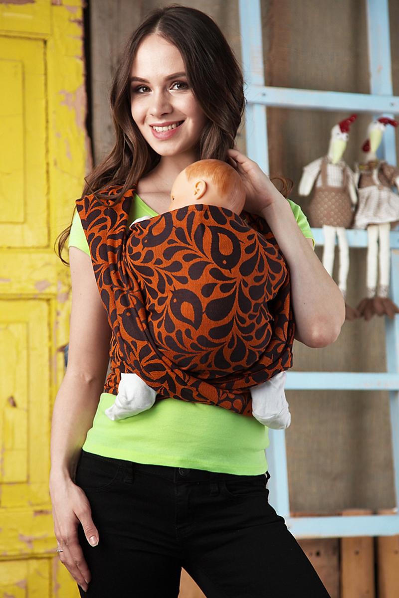 Mum's Era Слинг-шарф Birds Amber 470 см -  Рюкзаки, слинги, кенгуру