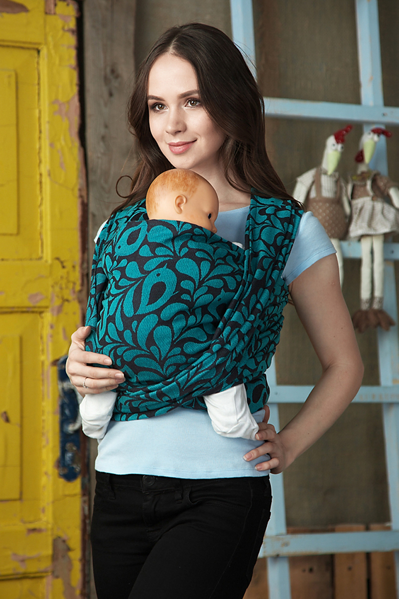 Mum's Era Слинг-шарф Birds Atlantis 470 см -  Рюкзаки, слинги, кенгуру