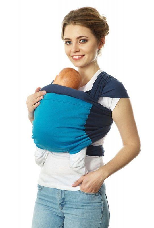 Mum's Era Слинг-шарф Фьюжн цвет синий голубой 470 см -  Рюкзаки, слинги, кенгуру