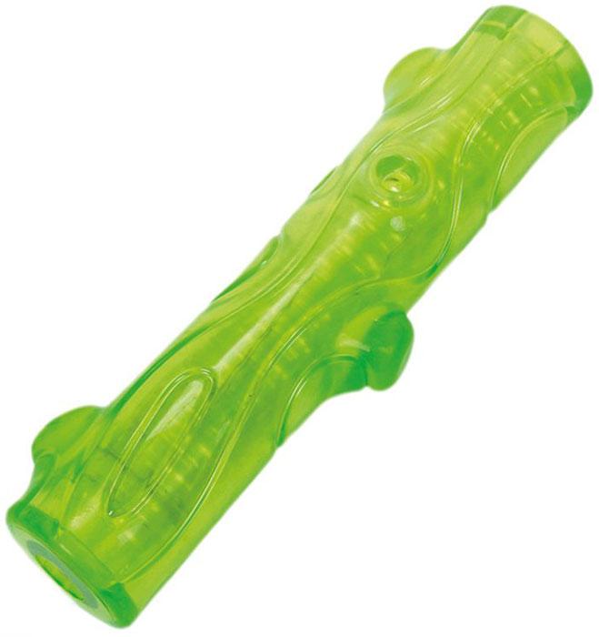 Игрушка для собак Грызлик Ам Палочка. Bottle Sound, цвет: зеленый, длина 16 см30.GR.036Материал TPR, с бутылочным звуком