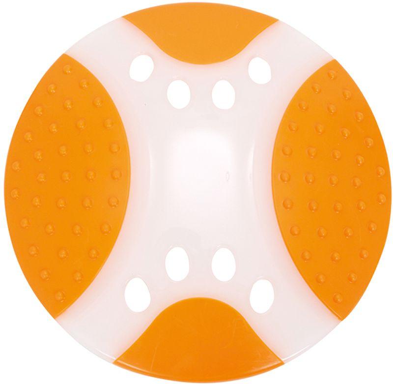 Игрушка для собак Грызлик Ам Тарелка летающая. Frisbee Dental Nylon, цвет: оранжевый, диаметр 23 см30.GR.038