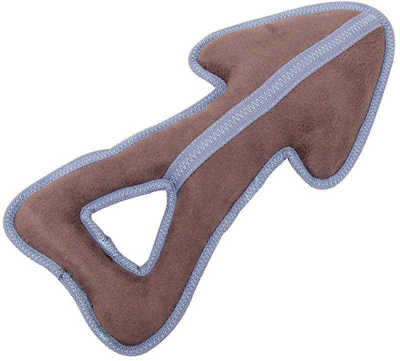 Игрушка для собак Грызлик Ам Стрелка. Oxford, с пищалкой, цвет: бежевый, длина 36 см30.GR.046Материал ткань Oxford, с пищалкой