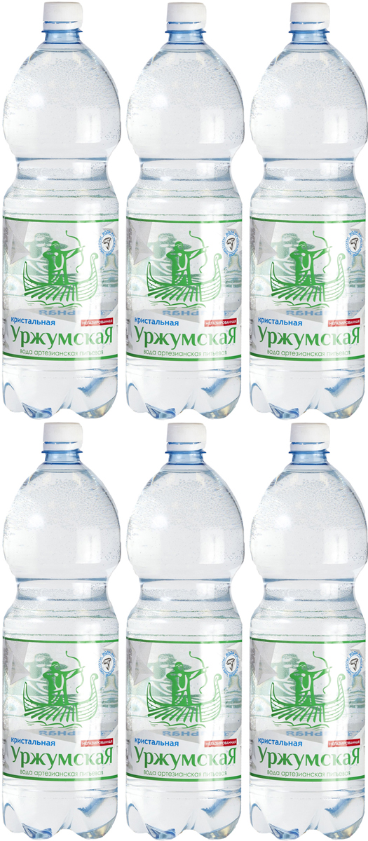 Уржумская кристальная вода негазированная, 6 штук по 1,5 л4607034170097Добывается из артезианской скважины, проходит 3 этапа обработки, сохраняя в себе все полезные микроэлементы.