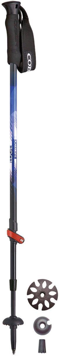 Палки треккинговые Cober Edge16, 62-135 см, 2 шт2173-секционые треккинговые палки из алюминия. Материал трубы: alloy 7075. Диаметр секций: 16/14/12 мм. Длина: регулиремая от 62 до 135 см. Вес: 220 г/шт. Рукоятка: неопреновая. Темляк: регулируемый. Комплектация: кольцо, транспортировочный наконечник.