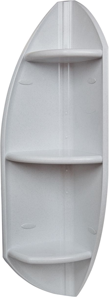 Полка для ванной комнаты Berossi, угловая, цвет: белый, 32 х 32 х 90,3 смАС 13001000Угловая полка Berossi из прочного пластика, органично впишется не только в ванную комнату, но и в оформление кухни, спальни или балкона. Сложная и оригинальная форма стенок привлекает внимание и делает стеллаж интересной деталью интерьера. Надежная конструкция и прочное крепление позволят устанавливать на полку даже такие тяжелые предметы, как горшки с цветами. Высота 90 см. Может устанавливаться горизонтально или вертикально. Выбор расцветок. Устойчива к воздействию влаги и температуры. Легко отмывает от загрязнений.