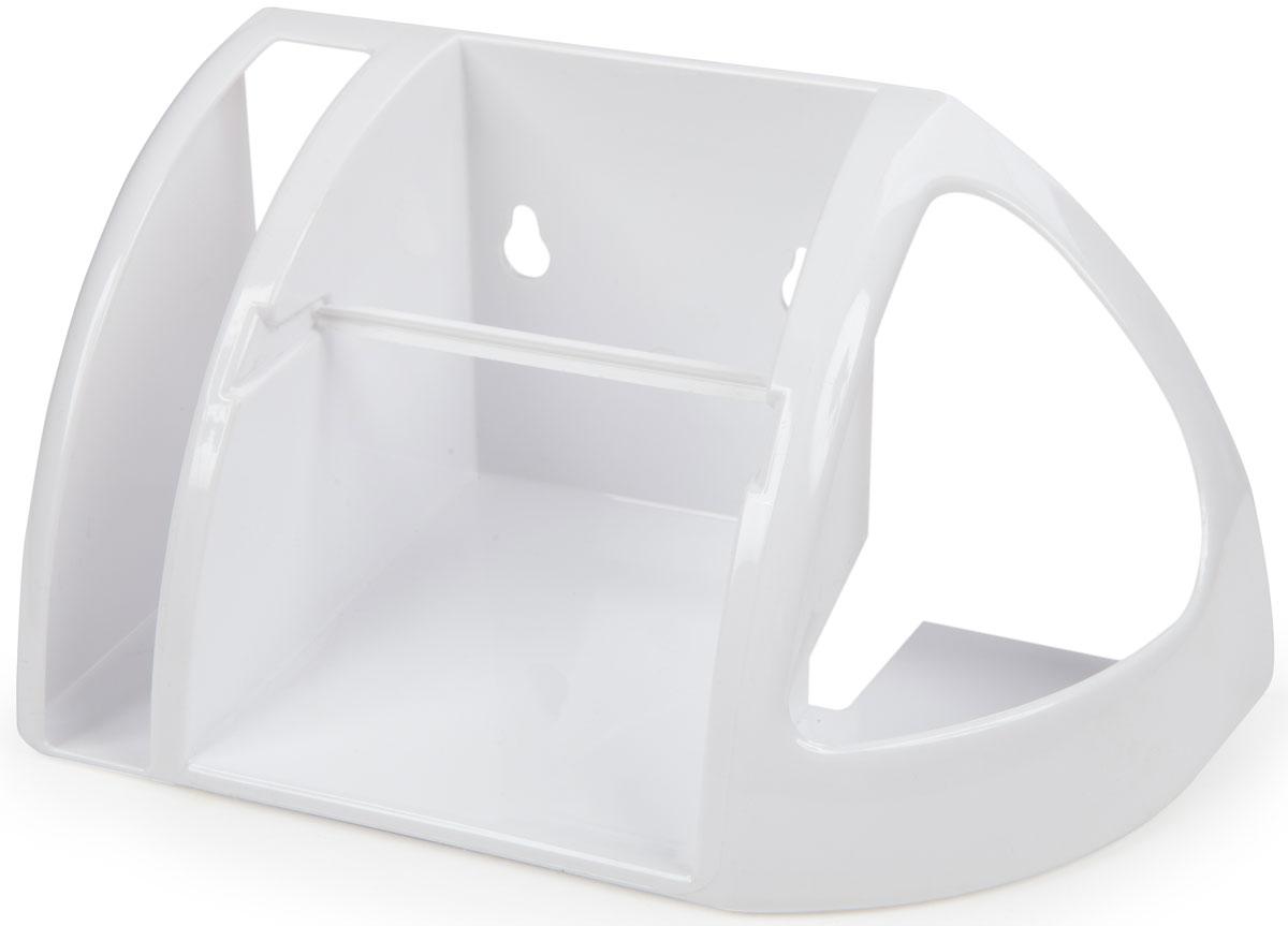 Полка для туалета Berossi, цвет: белый, 25,8 х 13,4 х 24 смАС 15201000Компактная и вместительная туалетная полка поможет хранить под рукой не только рулон туалетной бумаги и освежитель воздуха, но и поместить в специальный отсек газету, журнал, салфетки или телефон. Изделие прочно крепится к стене на два шурупа, которые идут в комплекте вместе с дюбелями. Надежная система фиксации рулона. Отсек для освежителя подходит для баллонов любой ширины и высоты. Прочный пластик отличается долговечностью и простотой в уходе.