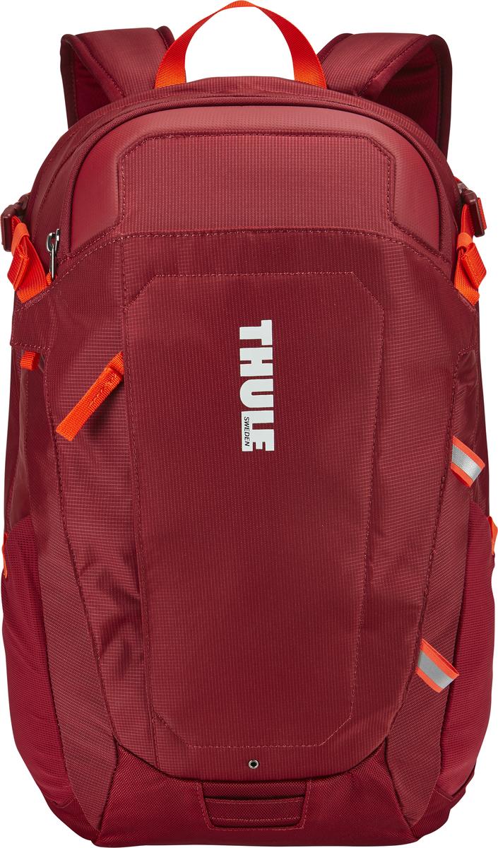 Рюкзак Thule EnRoute Triumph 2, цвет: бордовый, 21л3202895Рюкзак Thule EnRoute Triumph 2 - Рюкзак объемом 21 л с конструкцией SafeEdge для защиты ноутбука и отделениями для хранения самых необходимых повседневных вещей. Вмещает MacBook Pro с диагональю экрана 15 или ноутбук с диагональю экрана 14 и дополнительно планшет Чехол для ноутбука с конструкцией SafeEdge для защиты углов устройства и дополнительный накладной карман для планшета Ударопрочное отделение SafeZone для солнечных очков, смартфона и других хрупких предметов Карман с регулируемым размером обеспечивает быстрый доступ к хранящимся в нем вещам В отделении для ноутбука также можно хранить питьевую систему (в комплект не входит) Карманы на переднем клапане, обеспечивающие быстрый доступ Потайные крепления со светоотражающими деталями Панель-органайзер обеспечит надежное хранение и быстрый поиск мелких предметов. Выемки для вентиляции на задней стороне обеспечивают циркуляцию воздуха. Мягкие ремни рюкзака с нагрудным ремнем обеспечивают максимальный комфорт Размеры: 31 x 29 x 44 см