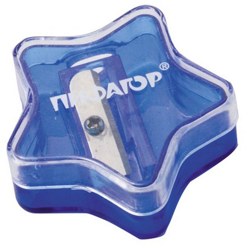 Пифагор Точилка Звездочка с контейнером цвет синий222499_синийУдобная точилка Пифагор Звездочка с контейнером оснащена безопасной системой заточки.Эта система предотвращает отделение лезвия от точилки. Качественное стальное лезвие обеспечивает лёгкое, равномерное затачивание карандашей. Контейнер для стружки изготовлен из цветного тонированного пластика. Идеально подходит для заточки графитовых и цветных карандашей.