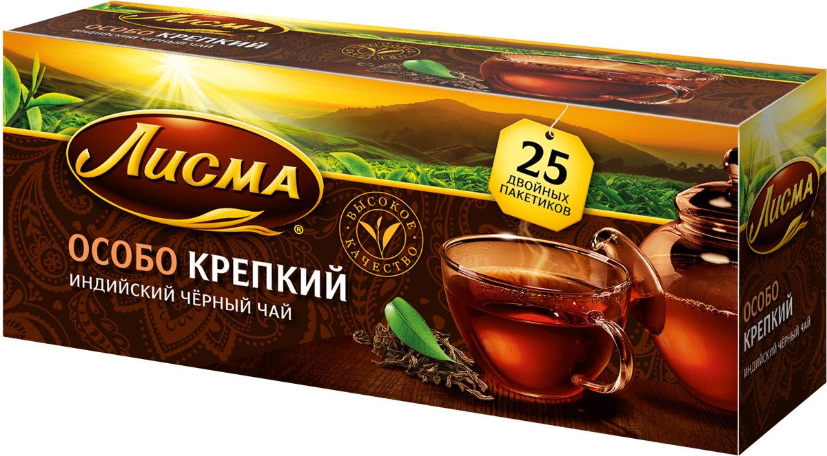 Лисма Особо Крепкий черный чай в пакетиках, 25 шт212700Лисма Особо Крепкий - индийский черный байховый чай в пакетиках. В коробке содержится 25 пакетиков по 2,3 грамма.Уважаемые клиенты! Обращаем ваше внимание на то, что упаковка может иметь несколько видов дизайна. Поставка осуществляется в зависимости от наличия на складе.
