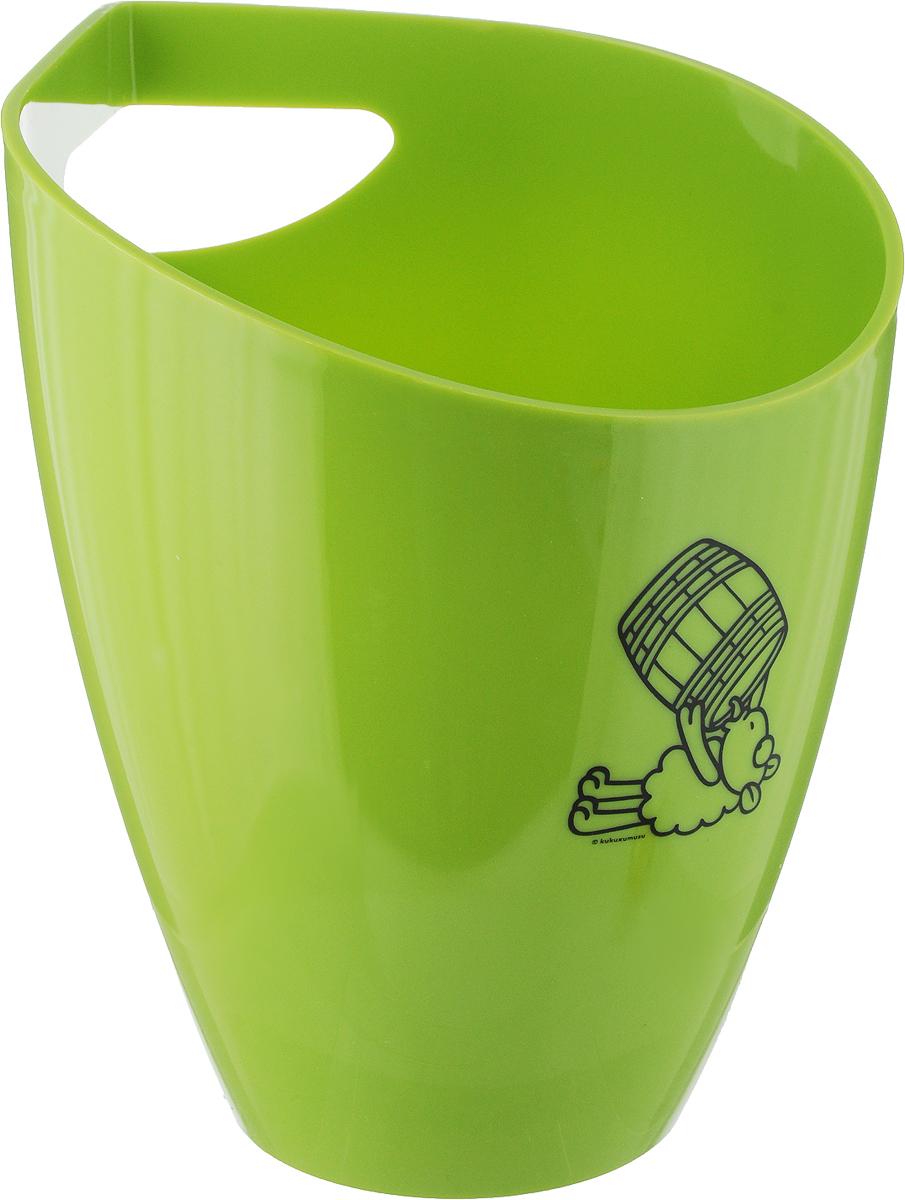 Ведро для охлаждения бутылок Koala Kukuxumusu, цвет: светло-зеленый6215VC01Ведро Kukuxumusu от Koala для охлаждения любых алкогольных напитков. Выполнено в ярком цвете лайм, имеет эргономичную форму, эффектный декор.Особенности продукта:- Выполнено из акрила, который не боится перепадов температур, не бьется, не деформируется;- Дно с антискользящим покрытием;- Система внутренней опоры дна стабилизирует положение бутылки с легким наклоном для быстрого и тщательного охлаждения;- Удобная ручка-прорезь сверху для переноса.Инструкция по применению:1. Поместить внутрь лед.2. Положить бутылку на несколько минут до охлаждения.3. Вино готово к употреблению.Ведро оптимально для одной бутылки.Стильный и функциональный аксессуар Kukuxumusu подходит для профессионального использования и применения в домашних условиях.