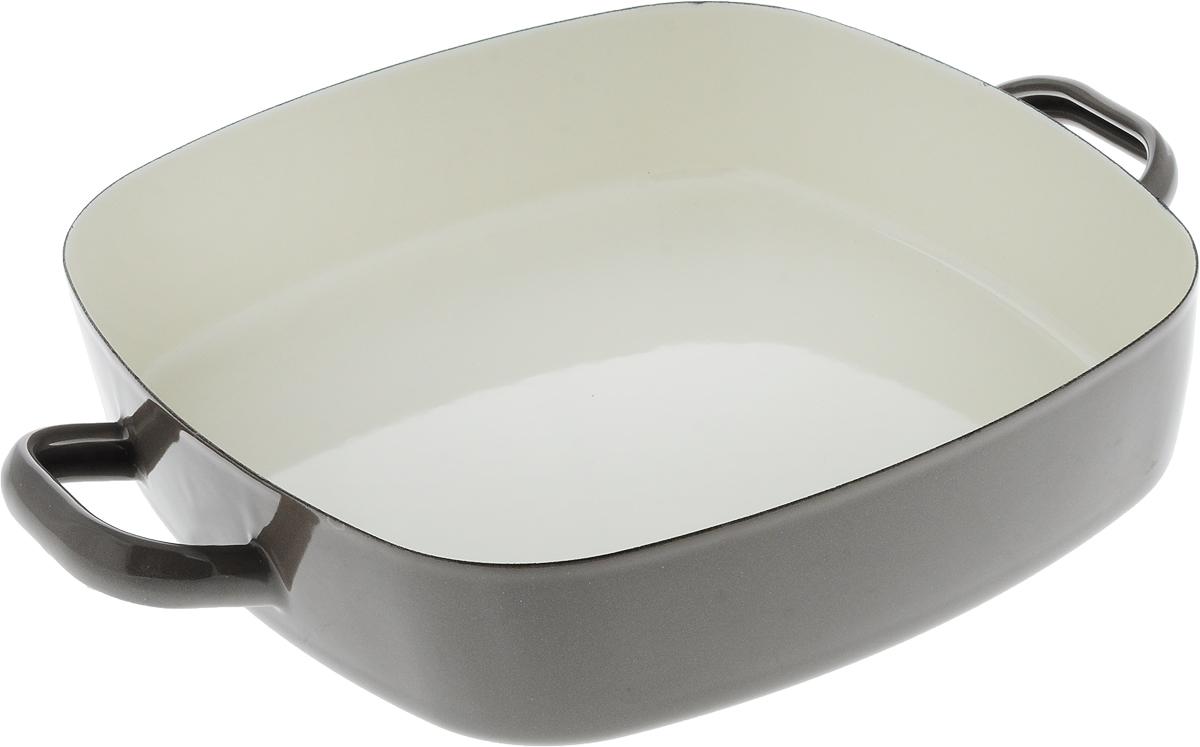 Сотейник эмалированный Metalac Posude Majestic, цвет: серый, 26 x 26 см147306Сотейник Metalac Posude Majestic изготовлен из стали с эмалированным покрытием. Стеклоэмаль инертна и устойчива к пищевым кислотам, не вступает во взаимодействие с продуктами и не искажает их вкус, не вызывает аллергию и надежно защищает пищу от контакта с металлом. Покрытие устойчиво к механическому воздействию, не царапается и не сходит, а стальная основа не подвержена механической деформации, благодаря чему, срок эксплуатации увеличивается. Изделие оснащено удобными ручками по бокам, также выполненными из стали.Подходит для всех видов плит, включая индукционные. Изделие можно мыть в посудомоечной машине.Размер сотейника (по верхнему краю): 26 х 26 см.Длина ручек: 4 см.Высота стенки: 6 см.Размер дна: 24 х 24 см.