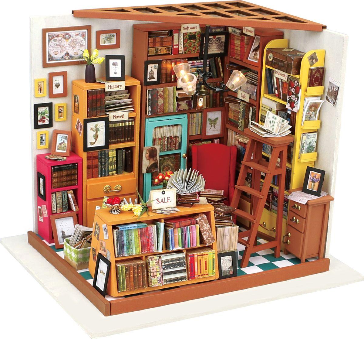 DIY Интерьерный конструктор для творчества  Sam's bookstore  (книжная лавка) - Конструкторы